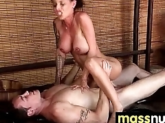 Naughty cookie gives an amazing Japanese massage 6
