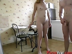 Fuck a blonde mature  clubbable with a stanger! French bush-league