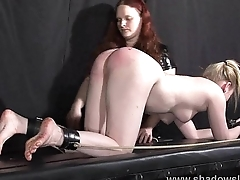 Satine Sparks lesbian foot fetish and hot waxing bdsm be advantageous to blonde submissive babe
