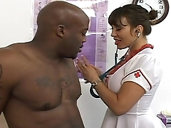 Hot pornstar Milf Fucked unconnected with black guy