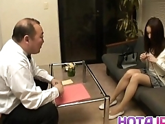 Nozomi Mashiro Asian doll gets pussy spread and masturbated in button up up