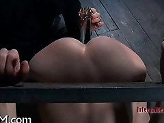 Tied up bazookas with toy gratifying