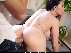 Big titted babe helps her CEO get off while at act 27