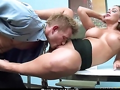 Big titted babe helps her CEO get off to the fullest at work 11