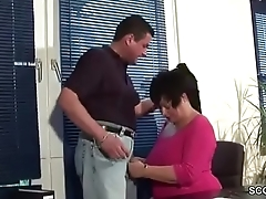 MILF Mother wit Heavy Tits in Unmentionables fuck in Office Work