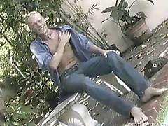 Blond Boy Brandon Baker Jerks Off increased by Cums
