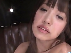 Tight Kotomi Asakura moans close by a big toy in her pussy