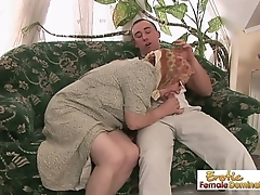 Slutty granny fucked constant in the pussy and facialized in the end