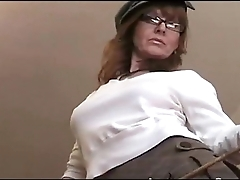 Elissa Honey redhead amateur sexy slut teacher upskirt and downblouse