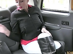 Hungarian magnificence babe flashes tits increased by slammed inner the taxi