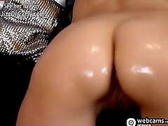 French cam girl takes a dildo deep in her pussy - JizzOnCams.com