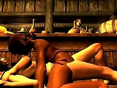 Battle Dwarf Esmeralda in SKYRIM Lets Play - Hunting Wild Bootie PT 5 Making love with ReCorderXXX