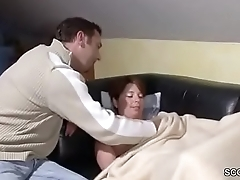 German Step-Son Wake Up MILF Mom and fuck will not hear of