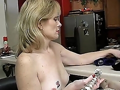 Super sexy older lady is as a result horny she has to masturbate