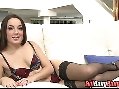 White Girl Banged Out by Black Cocks 001