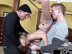 Rough MMF 3Some: Dakota Skye In Home Alone Parody