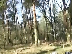 SEXY young light-complexioned Czech despatch-bearer is paid for copulation in a public park 18