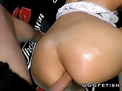 Sexy babe gets anal fucking behind wean away from