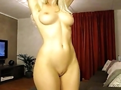 blond webcam in oil. My X-mas live webcam show: 4xcams.com