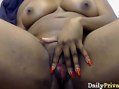 British titillating ebony damsel with juicy bubble in the final