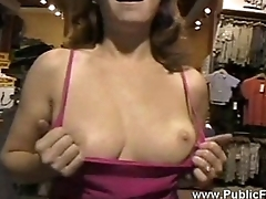 Public flashing ginger05