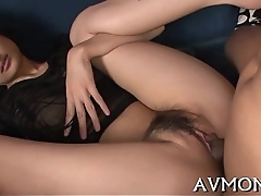Milf pokes pussy with sex tool