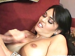 Brunette MILF Gives A Freezing handjob