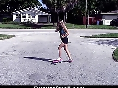 ExxxtraSmall - Tiny Skater Teen Gets Muted Pussy Drilled