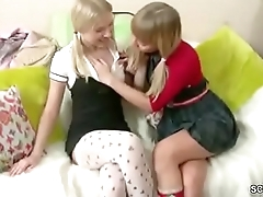 Sister show her Step-sister how to Fuck with Strap-On