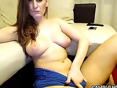 Sexy Amateur MILF Rubs Pussy &amp_ Plays With Anal Dildo on Webcam pt 06 - cams69.net