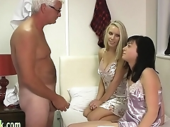 Euro mistress blows lunkhead