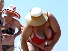 Russian BBW Mature Big Tits on beach  Amateur  More on: 18CAMS.CO