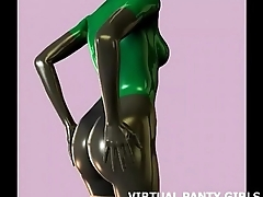 3d sci fi hentai babe in a outer tight catsuit